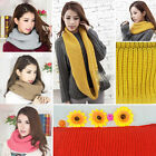 Fashion Womens Mens Winter Warm Infinity 2 Circle Knited Neck Scarves Shawl Wrap