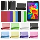 "Smart Leather Clear Back Case Cover for Samsung Galaxy Tab 4 8.0"" T330 T331 T335"