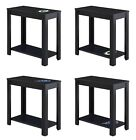 NFL Team Logo Decal on a Black Finish Wood Accent End Table Night Stand Man Cave $129.88 USD on eBay