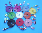 Colorful 3M USB Noodle Charge Cable Data Sync Cord for iPhone 4 3GS iPad iPod AU