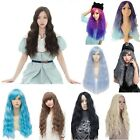 Latest Fashion Curly Wig Long Corn Wavy Hair Cosplay Sexy Lady Full Wig 9 Colors