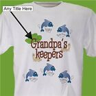 Personalized Fathers Day T-Shirt My Keepers Fishing T-Shirt for Dad or Grandpa