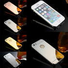 UltraThin Fashion Aluminum Metal Bumper Mirror Hard Back Case Cover For iPhone