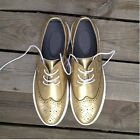 metallic Leather Men Sneakers Lace up causal Oxford Shoes business shoes