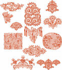 "ABC Designs Lucera Deco Machine Embroidery Designs SET 5""x7"" Hoop 12 Designs"