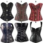 Steampunk steel boned Lace up Bustier Sexy women Corset Overbust Plus 6-24 FI