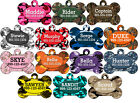 Camo Dog Tag Pet Id Tag Personalized w/ Your Pet's Name & Number