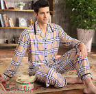 New Fashionable 100% Cotton 2PCs Man's plaid Sleepwear/ Pajama Sets L/XL/2XL/3XL