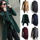 HOT Women's Warm WOOL Slim Long Coat Jacket Trench Windbreaker Parka Outwear
