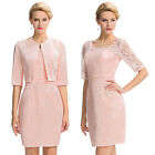 New Lace Mother of The Bride Outfit/Suit Women Formal Occasion Dress With Jacket