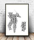 Golf 2 : Word art from Gofing terms Spelled out in poster, Wall art.