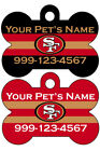 San Francisco 49ers Custom Pet Id Dog Tag Personalized w/ Name & Number