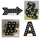 LIGHT-UP MARQUEE LETTERS & SYMBOLS -LED Lights-Black Fairground-Style Lamps/Sign