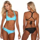 New Sheridyn Swim Bikini Set. Cross back plaited padded top. Cut out bottom