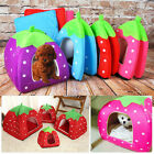 HOT Cute Strawberry Soft Warm Pets Dog Cat Bed Kennel House Doggy Cushion Basket