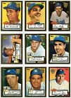 2001 2002 Topps Reprints 1952 World Series Gold You Pick the Player / Card