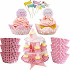 Girls Pink Sleepover Slumber Birthday Movie Princess Party Cake Cases &Toppers!