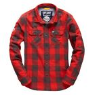 CAMICIA SUPERDRY FLANAGAN FOREST-SHIRT ROSSA A/I 2016 M40LE003 UEH