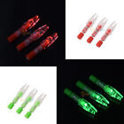 3Pcs Green/Red Arrow Nock LED Lighted Archery Hunting 6.2mm Nock Compound Bow