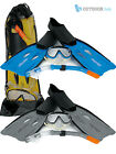 Osprey Snorkelling Scuba Diving Snorkel Mask Flippers Fins Dive Set Size 5-10UK