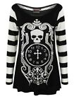 Jawbreaker Death Clock Jumper Women's Black Sweater