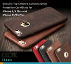 Classic iPhone 6/6S 6/6S Plus Genuine Top Selected Calfskin Leather Cases Skins