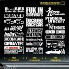jdm sticker pack static boost silvia subie oem usdm wrx boost dope decal JDP 708