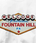 Fountain Hill, Pennsylvania PA VEGAS Souvenir T Shirt All Sizes & Colors