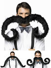 Extra Large Bendable Black Fake False Moustache Fancy Dress Costume Outfit