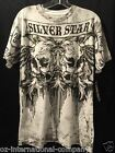 Men's Silver Star Casting Clothing Company Est. 1993 Skull Design Black & White