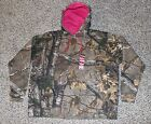New REALTREE Camo Hoodie Hooded Sweatshirt Pink Accents Womens Size L XL Hunting