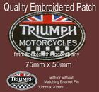 Triumph Union Jack Motorcycle Embroidered Patch with or without Enamel Pin Badge €3.31 EUR on eBay