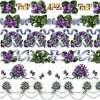 "ABC Violets Borders Machine Embroidery Designs Set in Cross Stitch 5""x7"" hoop"