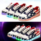Unisex Men's Women's Fashion 7 Colors LED Lighted Shoes Stars Sports Sneakers
