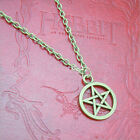 NEW LARGE 15MM WICCAN PAGAN FIVE POINTED STAR PENTAGRAM PENDANT CHARM NECKLACE