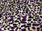 Double Sided Supersoft Cuddlesoft Fleece Fabric Material - PURPLE LEOPARD