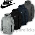 Nike Mens Fleece Lined Hooded Sweatshirt Jumper Full Zip Black Grey Navy Char
