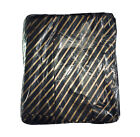 Black and Gold Striped Plastic Carrier Bags Strong Quality All Sizes S M L XL