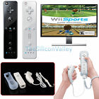 Remote And Nunchuck Controller Set For Nintendo Wii Video Game   Case Skin New