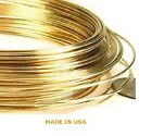 14K Yellow Gold Round Jewelry Wire Half Hard 10 Gauge - 30 Gauge MADE IN USA