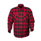 Scorpion Covert Flannel Red Black Casual Motorcycle Riding Shirt