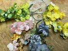 VINTAGE Flowers and Berries Velvet SILK Leaves 1pc Hand Wrapped Stems JAPAN