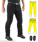 Mens Black Motorcycle Jeans Fully Lined Protection + CE Armour Finn Moto