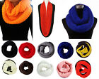Women's Winter Warm Infinity 2 Circle/Loop Cable Knit Cowl Neck Long Scarf Shawl