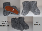 Womens Mens Very Warm Sheep Wool Boots Slippers Sheepskin All Sizes