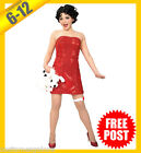 Ladies Costume Fancy Dress Up RD Licensed Red Betty Boop Sequin Dress & Wig $53.34 USD