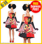 Ladies Costume Fancy Dress Up (5003) Queen of Hearts Alice in Wonderland Sz S-XL
