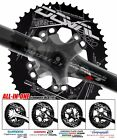 2016 New DOVAL Chainring set BCD110 MGLR ALL-in-one(11.7,13.5,16%) Black