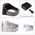 Zinc Alloy Replacement Wristband+Charger Dock For Samsung Galaxy Gear S SM-R750