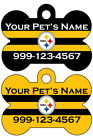 Pittsburgh Steelers Custom Pet Id Dog Tag Personalized w/ Na
